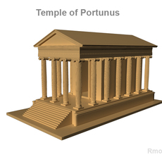 Temple of Portunus   3D Model