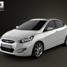 Hyundai Accent (i25) Sedan 2012 3D Model