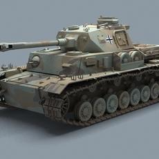 WW2 German Tank Panzer 3D Model