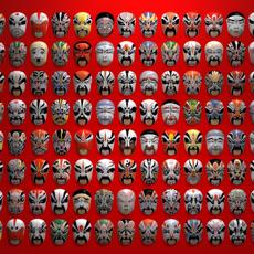 Chinese opera masks 3D Model