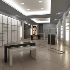Store interior scene Render Ready 3D Model