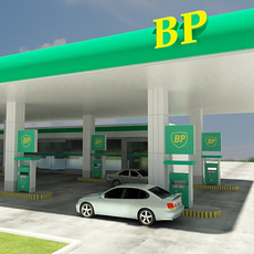 BP Gas Station 3D Model