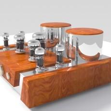 Vacuum Tube Amplifier 01 3D Model