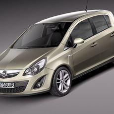Opel Corsa 5 door 2012 3D Model