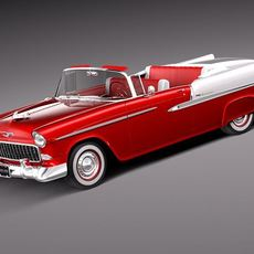 Chevrolet Bel Air Convertible 1955 3D Model