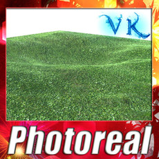 Grass High Res Seamless Tileable 3D Model