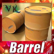 3D Model Pallet & Metal Drums High Resolution 3D Model