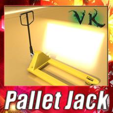 Pallet Jack High Detail 3D Model