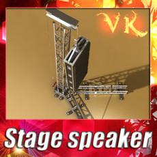 3D Model Stage Speaker Truss High Detail 3D Model
