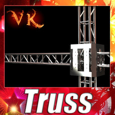 Metal Truss System High Detail 3D Model