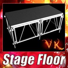 3D Model Stage Floor Platform 3D Model