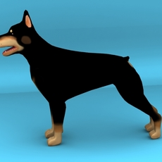 Dog Dobermann 3D Model