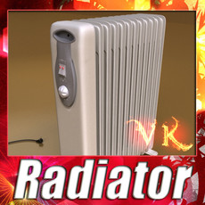 3D Model Portable Radiator High Detailed 3D Model