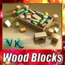 3D Model Wooden Toy Blocks 3D Model