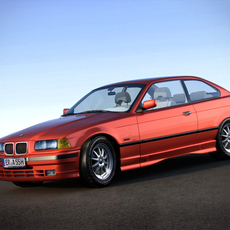 BMW 3 Series e36 coupe 3D Model