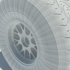 Pirelli intermediate tyre 3D Model