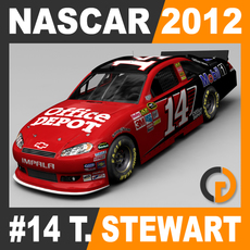 Nascar 2012 Car - Tony Stewart Chevrolet Impala #14 3D Model