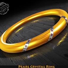 Pearl Crystal Ring 3D Model