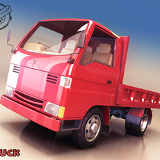 Utility Flatbed Truck 3D Model
