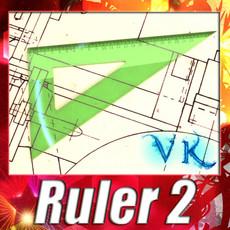 3D Model Angle Bevel Ruler 02 3D Model