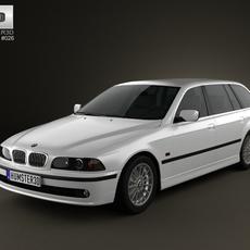 BMW 5-series E39 Touring (1995-2003) 3D Model