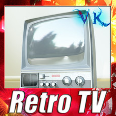 3D Model Retro TV High res 3D Model