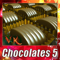 3D Model Chocolate Candy 05 High res 3D Model