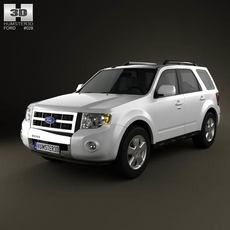 Ford Escape 2012 3D Model