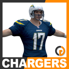 NFL Player San Diego Chargers 3D Model