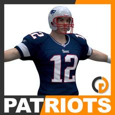NFL Player New England Patriots 3D Model