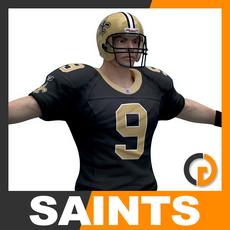 NFL Player New Orleans Saints 3D Model