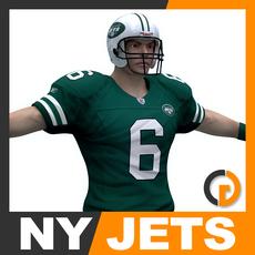 NFL Player New York Jets 3D Model