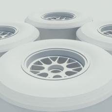 Pirelli slick tire - no materials or textures 3D Model