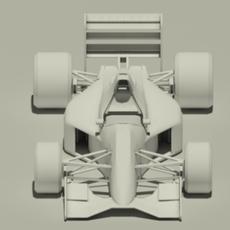 Jordan 191 F1 car - no materials or textures 3D Model