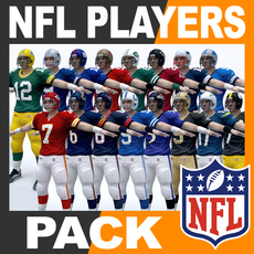 NFL Players Pack 3D Model