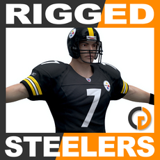 NFL Player Pittsburgh Steelers Rigged 3D Model