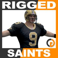 NFL Player New Orleans Saints Rigged 3D Model