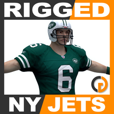 NFL Player New York Jets Rigged 3D Model