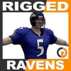 NFL Player Baltimore Ravens Rigged 3D Model