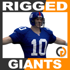 NFL Player New York Giants Rigged 3D Model