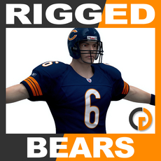 NFL Player Chicago Bears Rigged 3D Model