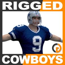 NFL Player Dallas Cowboys Rigged 3D Model