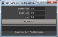 Deformer to Blendshape for Maya 1.0.0 (maya script)