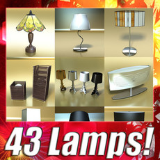 3D Model 43 Lamps Mega Pack 3D Model
