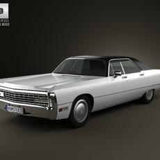 Chrysler Imperial LeBaron 4-door Hardtop 1971 3D Model