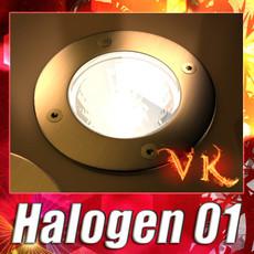3D Model Halogen Lamp 01, High detail 3D Model