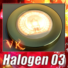 3D Model Halogen Lamp 03 Photoreal 3D Model