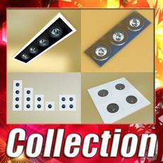3D Model Halogen Lamps Collection 15 Items 3D Model