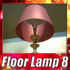 3D Model Modern Floor Lamp 08 Lunette 3D Model