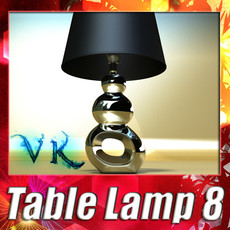 3D Model Modern Contempo Table Lamp 08 3D Model